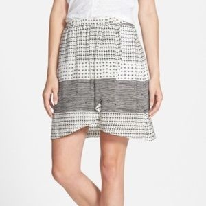 NWT Madewell Mixed print tulip skirt